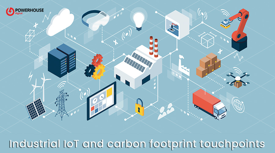 Industrial IoT and carbon footprint touchpoints